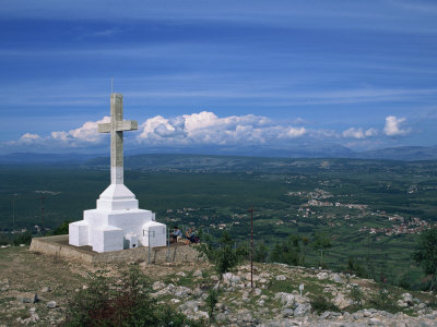 Summit of the Hill of the Cross, Krizevac, Medjugorje, Bosnia Herzegovina, Europe Photographic Print by Pottage Julian