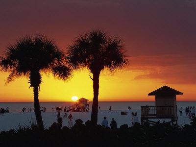 Sunset from Siesta Beach, Siesta Key, Sarasota, Florida, United States of America, North America Photographic Print by Tomlinson Ruth