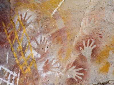 Aboriginal Rock Art at the Art Gallery, Carnarvon National Park, Queensland, Australia Photographic Print by Schlenker Jochen