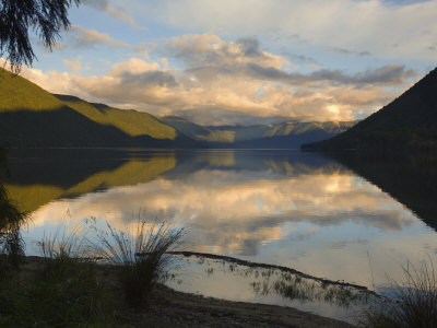 Lake Rotoroa and Travers Range, Nelson Lakes National Park, South Island, New Zealand, Pacific Photographic Print by Schlenker Jochen