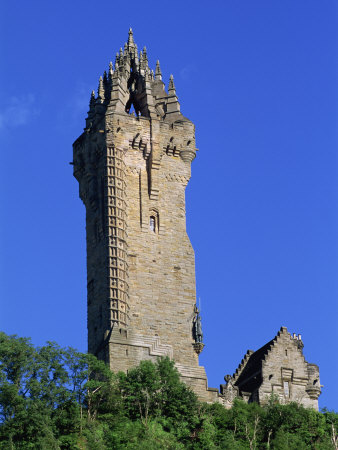 Wallace Monument, Stirling, Central, Scotland, United Kingdom, Europe Photographic Print by Thouvenin Guy