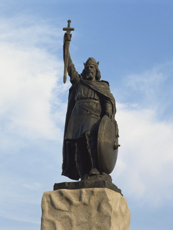 Statue of King Alfred, Winchester, Hampshire, England, United Kingdom, Europe Photographic Print