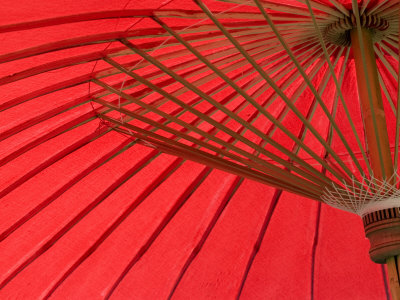 Red Umbrella, Chiang Mai, Thailand, Southeast Asia Photographic Print by Porteous Rod