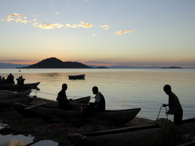 Chembe Village, Cape Maclear, Lake Malawi, Malawi, Africa Photographic Print by Groenendijk Peter