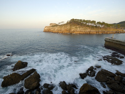 Sea Wall and Harbour Entrance, Lekeitio, Basque Country, Costa Vasca, Euskadi, Spain, Europe Photographic Print by Groenendijk Peter