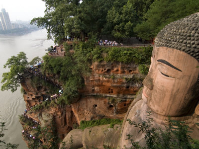 Giant Buddha, UNESCO World Heritage Site, Leshan, Sichuan, China Photographic Print by Porteous Rod