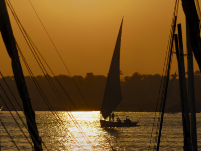 Feluccas on the River Nile, Aswan, Egypt, North Africa, Africa Photographic Print by Groenendijk Peter