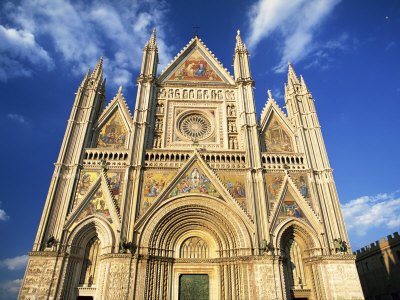 Facade of the Cathedral, Orvieto, Umbria, Italy, Europe Photographic Print by Tomlinson Ruth