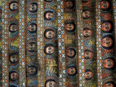 Angels, Debre Birhan Selassie Church, Gondar, Ethiopia, Africa Photographic Print by Groenendijk Peter