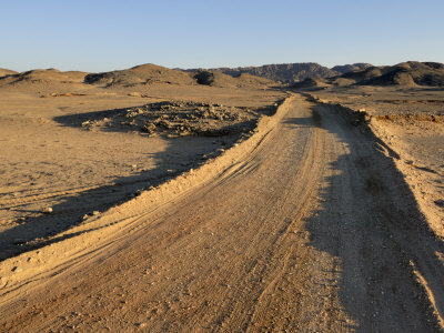 Dirt Road, Nubian Desert, Sudan, Africa Photographic Print by Groenendijk Peter