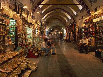 Interior of the Grand Bazaar in Istanbul, Turkey, Europe Photographic Print by Groenendijk Peter