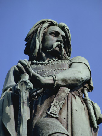 Close-Up of Statue of Vercingetorix, at Alise-Ste-Marie, in Bourgogne, France, Europe Fotografie-Druck