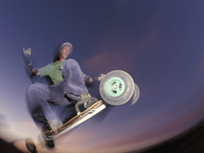 Mountain Boarder in Action, Colorado Springs, Colorado, USA Photographic Print