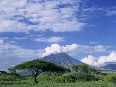 Volcano Ol Doinyo Lengai, the Masai's Holy Mountain, Tanzania, East Africa, Africa Photographic Print by Groenendijk Peter