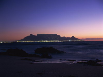 Table Mountain at Dusk, Cape Town, South Africa, Africa Photographic Print by Groenendijk Peter