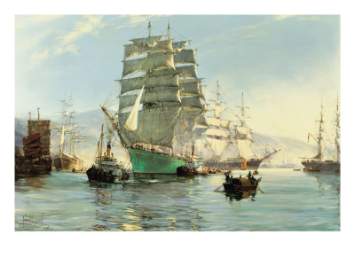 The Thermopylae Leaving Foochow Gicleetryck