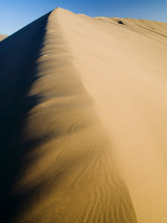 Sand Dunes, Desert, Dunhuang, Gansu, China Photographic Print by Porteous Rod