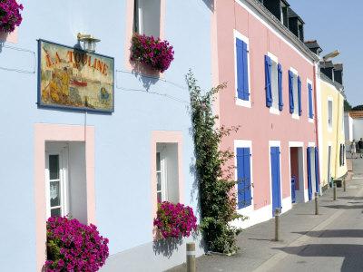 Sauzon, Belle Ile, Brittany, France, Europe Photographic Print by Groenendijk Peter