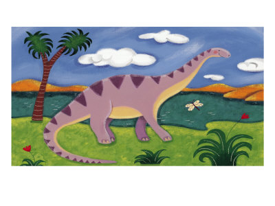 Dippy the Diplodocus Premium Giclee Print by Sophie Harding