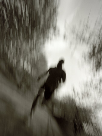 African American Male on a Training Run Fotografisk tryk af Chris Trotman