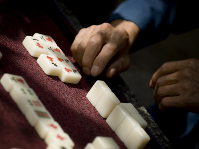 Playing Mahjong, Dali, Yunnan, China Photographic Print by Porteous Rod