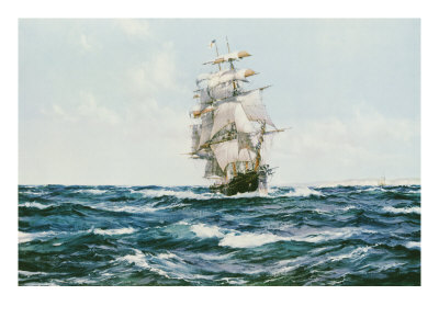 Up Channel, the Lahloo Premium Giclee Print by Montague Dawson