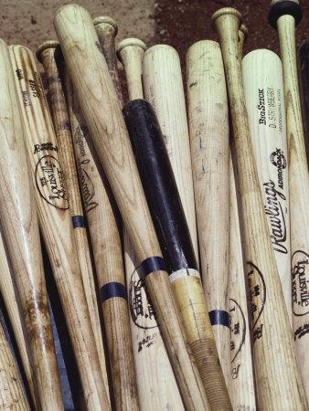 Baseball Bats Photographic Print by Paul Sutton