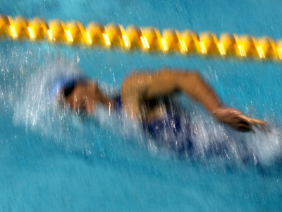 Action of Female Freestyle Swimmer, Athens, Greece Photographic Print by Paul Sutton