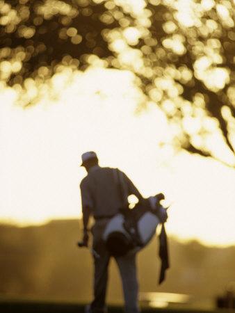 Male Golfer after Shooting a Round Fotografisk tryk af Chris Trotman