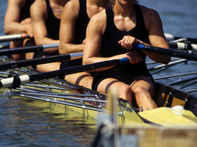 Detail of Women's Rowing Team Photographic Print