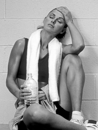 Women Resting after Exercise Session in Fitness Studio, New York, New York, USA Photographic Print by Paul Sutton