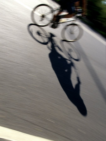 Cyclist and His Shadow Photographic Print by Chris Trotman