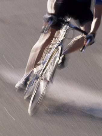 Detail of Road Cyclist Photographic Print