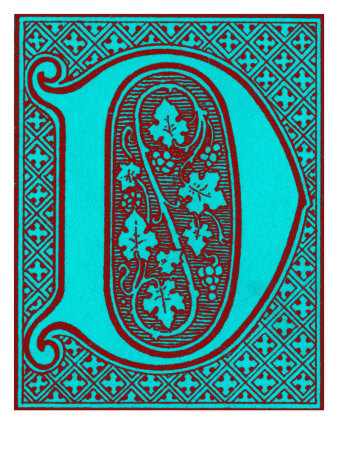 Illuminated letter 'D' Giclee Print - AllPosters.co.uk