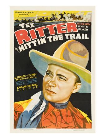 Hittin' the Trail, Tex Ritter, 1937 Photo