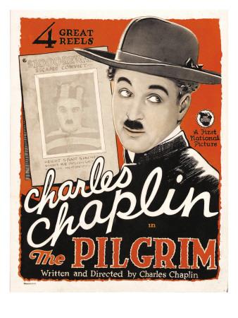 charlie chaplin poster. The Pilgrim, Charles Chaplin,