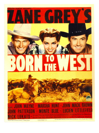 Born to the West, John Wayne, Marsha Hunt, Johnny Mack Brown, 1937 Photo
