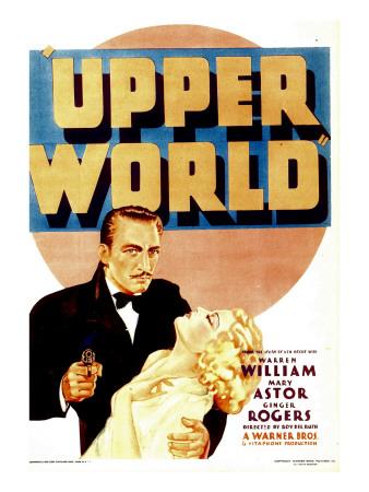 Upper World, Warren William, Ginger Rogers on Midget Window Card, 1934 Photo
