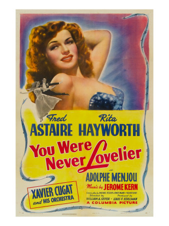You Were Never Lovelier, Rita Hayworth, 1942 Photo