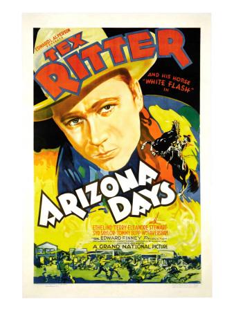 Arizona Days, Tex Ritter, 1937 Photo
