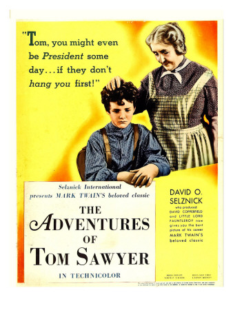 The Adventures of Tom Sawyer, Tommy Kelly, May Robson on Window Card, 1938 Photo