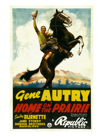 Home on the Prairie, Gene Autry, 1939 Photo