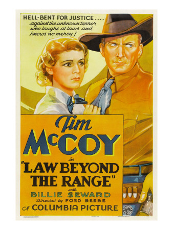 Law Beyond the Range, Billie Seward, Tim Mccoy, 1935 Photo