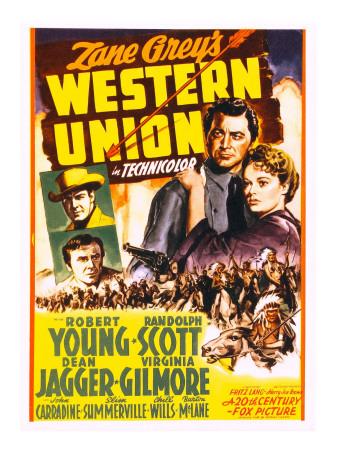 Western Union, Randolph Scott, Dean Jagger, Robert Young, Virginia Gilmore, 1941 Photo