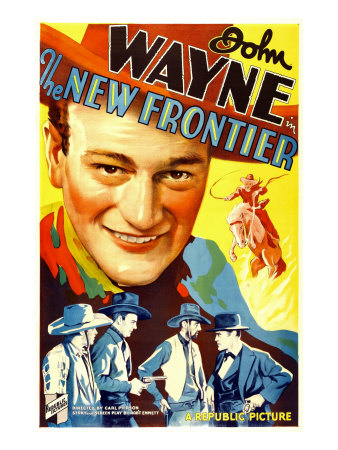 The New Frontier (Aka Frontier Horizon), John Wayne, Movie Poster Art, 1935 Photo