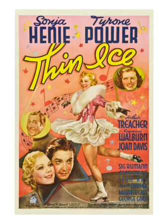 Thin Ice, Sonja Henie, Tyrone Power, Arthur Treacher, Joan Davis, 1937 Photo