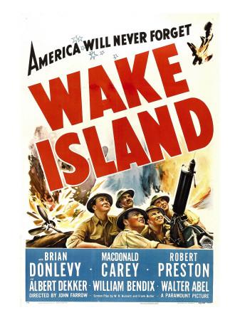 Wake Island, Foreground from Left: Macdonald Carey, Brian Donlevy, Robert Preston, 1942 Photo