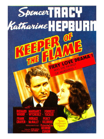 Keeper of the Flame, Spencer Tracy, Katharine Hepburn on Midget Window Card, 1942 Premium Poster