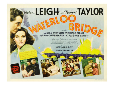 Waterloo Bridge, Robert Taylor, Vivien Leigh, 1940 Photo