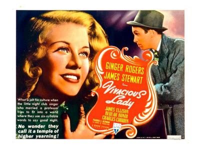 Vivacious Lady, Ginger Rogers, James Stewart, 1938 Photo